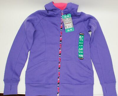 XL Pink L Black Blue OCFO Purple Girls Full Zip Hoodie Kirkland Signature M