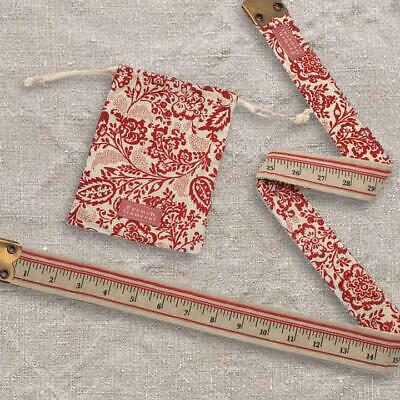 "Tape Measure - 36"" - Collectable - French General Chafarcani  Fabric In Pouch"