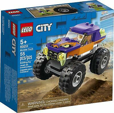 Lego 60251 LEGO City Monster Truck 60251 Building Set, New 2020 (55 Pieces)