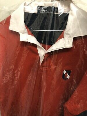 Vintage Polo Ralph Lauren Red Rugby  LS