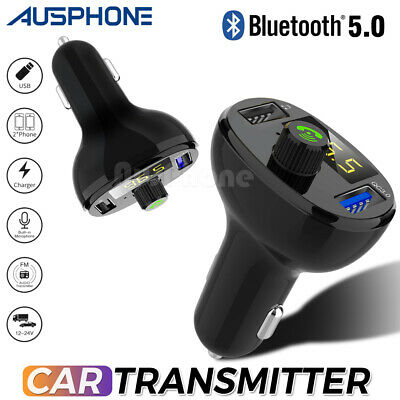 Bluetooth Radio Car Kit Wireless FM Transmitter USB Fast Charger for MP3 Player