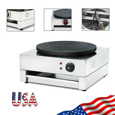 "Nonstick 16"" Commercial Electric Crepe Maker Baking Pancake Machine Hotplate US"