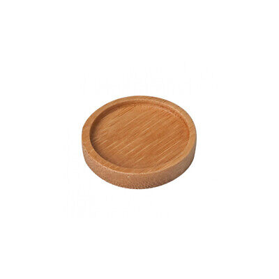 12x Disposable Bamboo Mini Dish Round 5cm Tasting Taster Small Servingware
