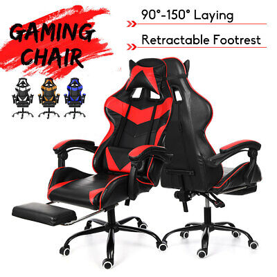Racing Gaming Chair Swivel Recliner Computer Desk Home Office Chair w/ Footrest
