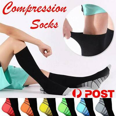 Compression Socks Graduated Knee High Stockings Travel Calf Support Anti Fatigue