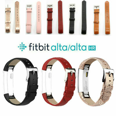 UK Real Leather Silicon Watch Replace Band Wrist Strap For Fitbit Alta /Charge 2