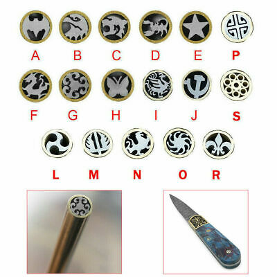 6mm Dia Mosaic Rivets Pin Knife Handle Brass+Steel Tube Brooch Frame Material