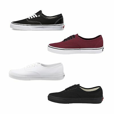 NEW AUTHENTIC VANS Slip On Shoes Classic Black White Canvas