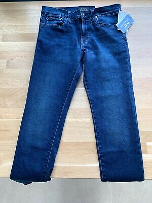 Boys Jeans Age 12 Polo Ralph Lauren Indigo Denim Blue Eldridge Skinny Kids NEW!