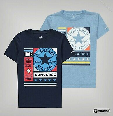 Boys Converse Lightweight Short Sleeves Boxes T Shirt Sizes Age from 8 to 15 Yrs