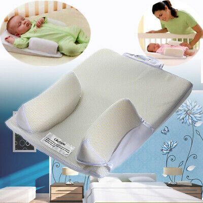 "12.2""x15.75"" Newborn Baby Kids Infant Sleep Pillow Anti Roll Flat Head Cushion"