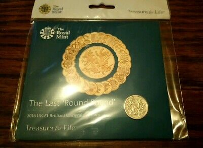 2016 Last Round Pound One Pound Coin £1 UNC Uncirculated Royal Mint