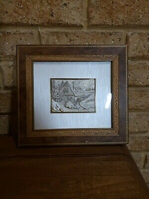 Framed Silver Picture Marked 'Arg' 925