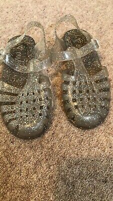 Girls Next Glitter Jelly Shoes / Sandals Size 12 Good Condition