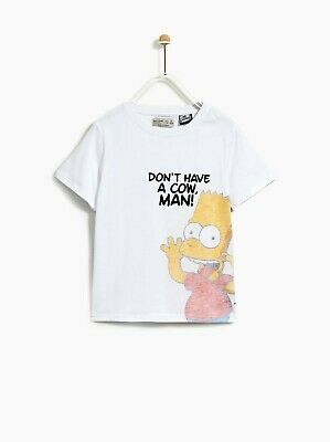 BNWT Zara Kids Soft Stretch Cotton Simpsons T-shirt Top Age 11-12 years RRP £11