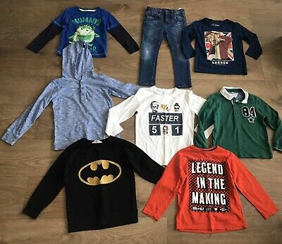 Boys bundle 4-5 years zara skinny jeans long sleeve tops batman jumper F329
