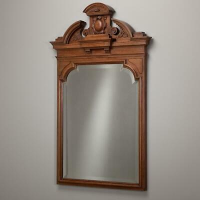 A Pair of 19th Century Irish Neoclassical Carved Walnut Mirrors