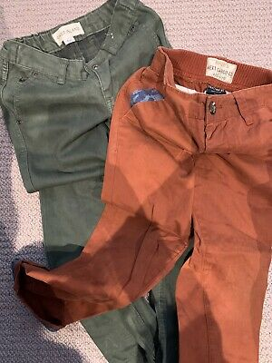 Bundle 2 Boys River Island Jeans Green Rust Trousers Age 4 And 3-4 Other Bundles