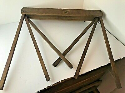 ANTIQUE PRIMITIVE WOOD WALL HANGING DRYING RACK Eagle