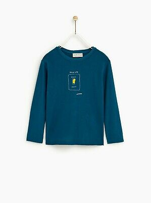 BNWT Zara Kids Soft Stretch Cotton Daily Life Long Sleeve Top Age 6 years