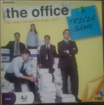 2008 The Office Trivia Game NBC Vintage Dunder Mifflin