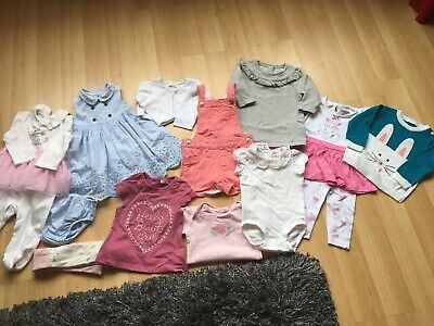 BABY GIRLS CLOTHES BUNDLE AGE 6-9 MONTH FROM MOTHERCARE etc