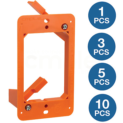 Low Voltage 1 Gang Bracket Mount Single DryWall Mounting Wall Plate LV1 Lot