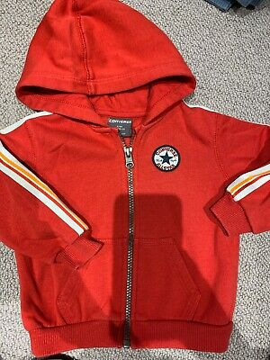 Converse All Star Hoodie For Boys Age 9-12months Excellent Condition RRP £18 Red