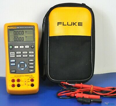Fluke 724 Temperature Process Calibrator - NIST Calibrated with Fluke Leads