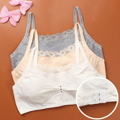 Young girls baby lace bras underwear vest sport wireless training puberty br+ ZS