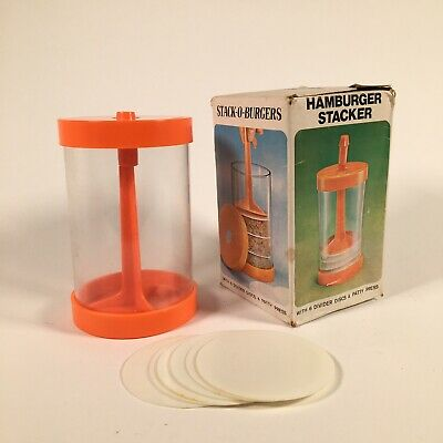 Vintage Stack O Burgers Patty Press Retro Kitchen Equipment 1970s Stacker