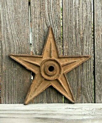"Antique Cast Iron Architectural Star 9"" Brick Wall Anchor Plate"