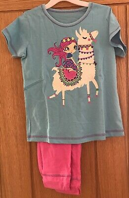 Girls Llama Pyjamas Pjs Age 8-9 Years Birthday Gift Present Winter