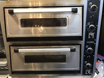 Adexa Twin Deck Electric Pizza Oven, Stone Baked Pizza Oven