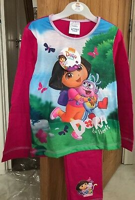 Girls Dora The Explorer Pyjamas Pjs Age 4-5 Years Birthday Gift Present Winter