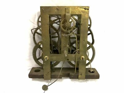 E.N. Welch Pat'd 1870 Weight Driven Clock Movement for Parts | 22938