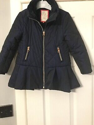 Ted Baker Girls Padded Coat Jacket Age 5 Years Navy
