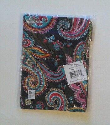 NWT Vera Bradley Pencil Pouch in Parisian Paisley 3-ring Binder Pen Case #12