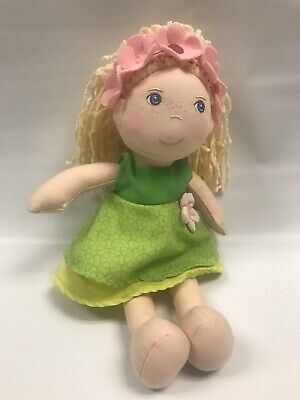 """Blue Eyes and Embroidered Face HABA Nick 12/"""" Soft Boy Doll with Blonde Hair"""