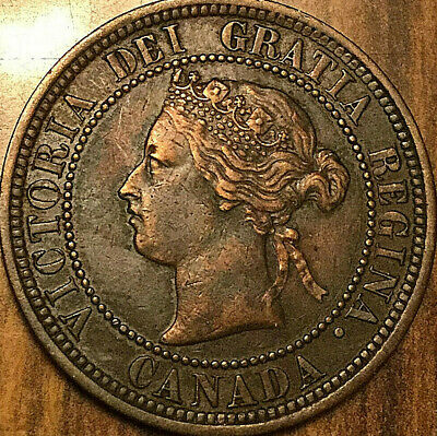 1882H CANADA LARG ECENT LARGE 1 CENT COIN PENNY - Obverse 1 Excellent example!