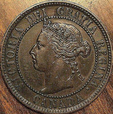 1899 CANADA LARG ECENT LARGE 1 CENT COIN PENNY - Fantastic example!