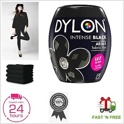 DYLON Washing Machine Dye Pod Intense Black 350G Permanent Dyes-up Fabric Powder