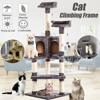 """51"""" Cat Tree Tower Condo Furniture Scratcher Post Pet Kitty Play House Pet Bed"""