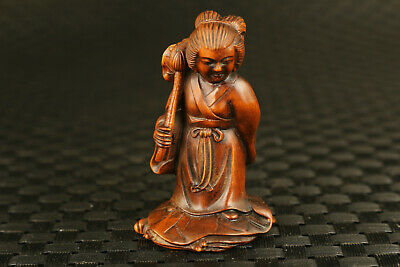 chinese old boxwood hand One of eight immortals figure statue decoration gift