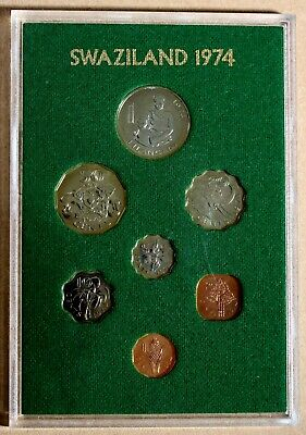 Swaziland  1974 Proof Coin Set First Year of Issue GEM AFRICA