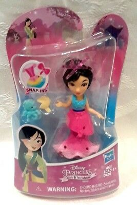 "Disney Princess Little Kingdom MULAN Snap-Ins 3/"" Classic Mini Doll Fan"