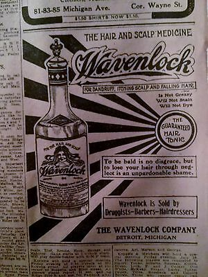 July 29, 1910 Newspaper Page #4582- Wavenlock- The Hair And Scalp Medicine