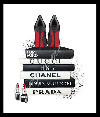 Coco Chanel Fashion Print Louboutin Wall Art Home Decor Picture Bedroom Gift A4