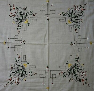 Small Vintage Embroidered Table Cloth