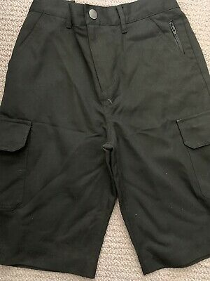 NEXT Black SCHOOL SHORTS AGE 11 YEARS FLAT FRONT WORN ONCE VGC Pockets